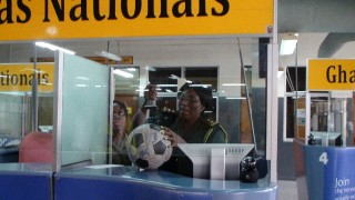 The Ball receives its entry stamp for Ghana