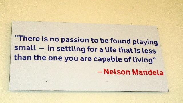 Inspiring quote from Nelson Mandela