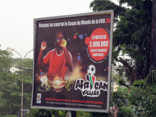 An advert for travel to the World Cup