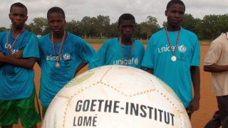 The Goethe-Institut donated balls