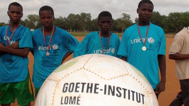 The Goethe-Institut donated balls