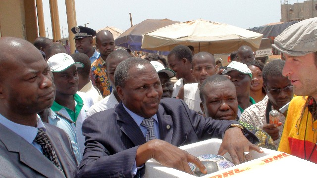 The Togolese Minister of Sport welcomes The Ball