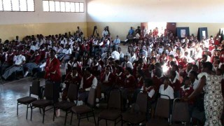 Packed auditorium at the Bambino school, Lilongwe
