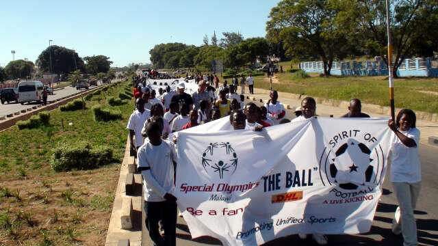 Marching from the polytechnic to the stadium