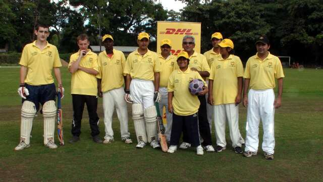 The DHL cricket team are on The Ball