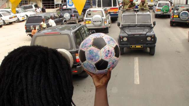 The Ball gets round the city streets