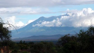 Mt Meru seen from Longido