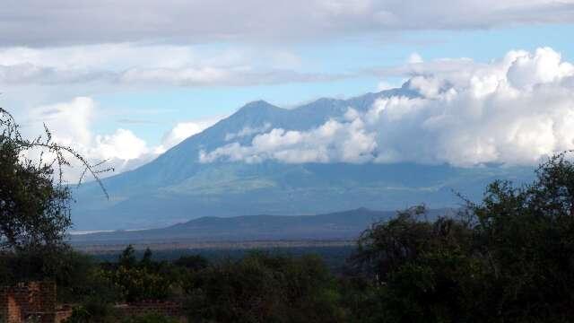 Mt Meru seen from Longido