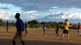 Mt Meru and the vast plains of Tanzania
