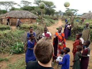 Christian's way of juggling using local fruit