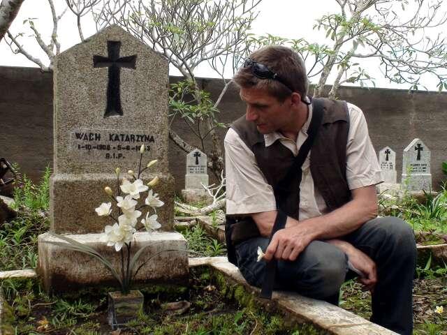 Katarzyna's grave and Julia's flowers