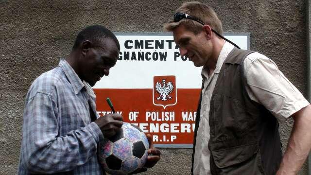 The graveyard caretaker signs The Ball