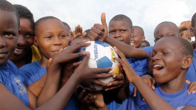 Children love their ball from Brazil