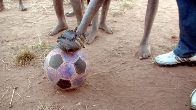 Football with one boot en route to Lusaka