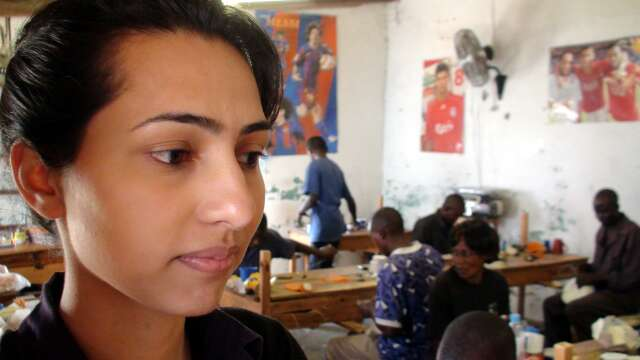 Sughra Hussein, acting Director Alive and Kicking Zambia at the A&K factory in Lusaka
