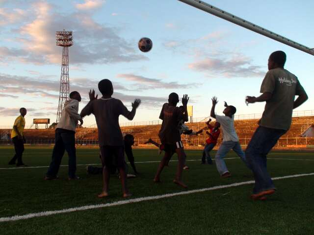 Kids allowed to play in the National Stadium with The Ball