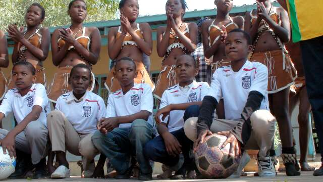 England prepare for World Cup with barefoot match in Botswana