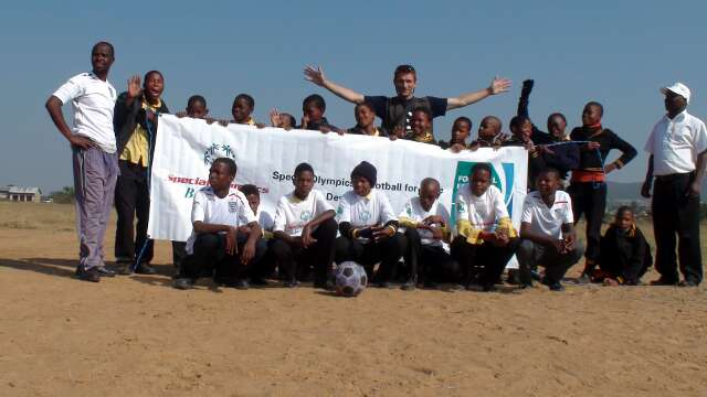 The children's Unified Football team