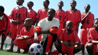 A Unified Football team prepares for the match