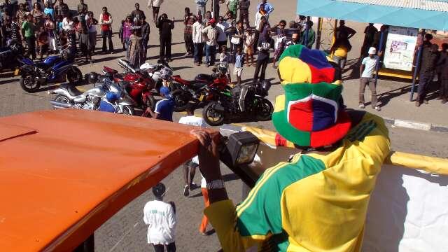 Desert Wolves gather at Katatura market