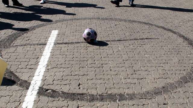 Burnt rubber: a biker leaves his mark
