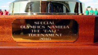 The trophy's inscription