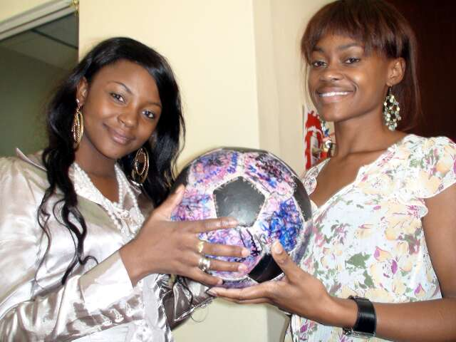 Namibian beauties: two DJs get their hands on The Ball