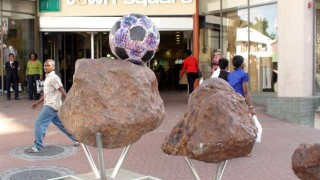 Balls from outer space, meteorites in Windhoek