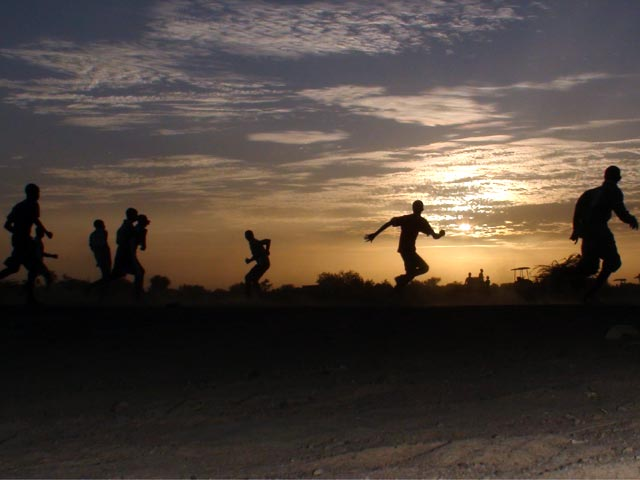 A sunset game