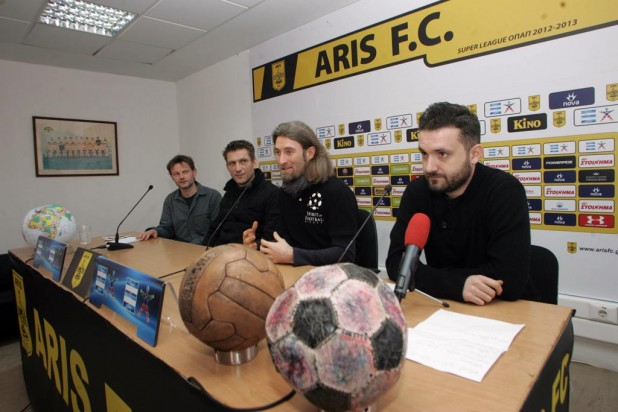 Press conference at Aris FC