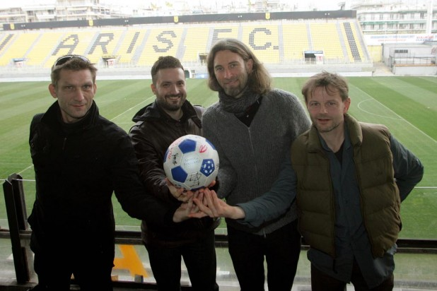 Meeting at the Aris stadium