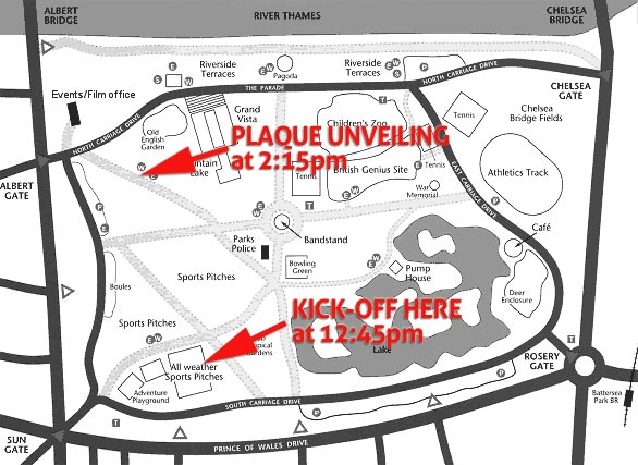 Location of events in Battersea Park