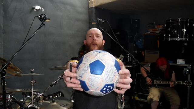 NMA with a replica of The Ball