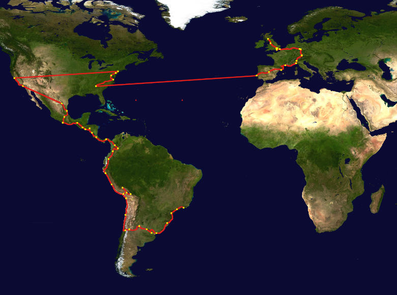 The route to Brazil