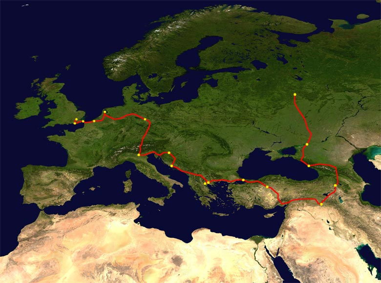 The route of The Ball 2018
