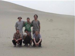 The team in the dunes