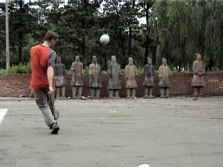 The free kick is taken
