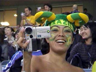 Brazilian girl films me