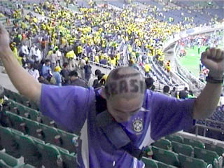 Brazil shaved into head
