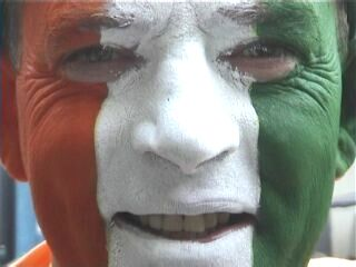 Irish supporter in full regalia