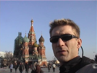 Chris in Red Square
