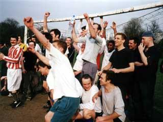 The teams in Battersea Park