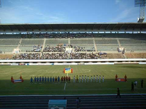 World Cup Qualifier DPRK v Thailand at the Yangdakdo Stadium 8th September 2004