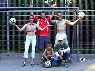 The teamshot after our kickabout