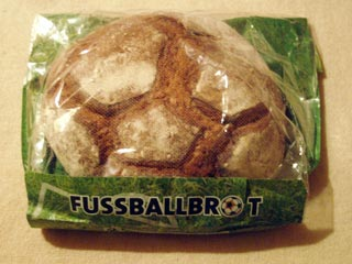 A loaf of bread made to look like a football