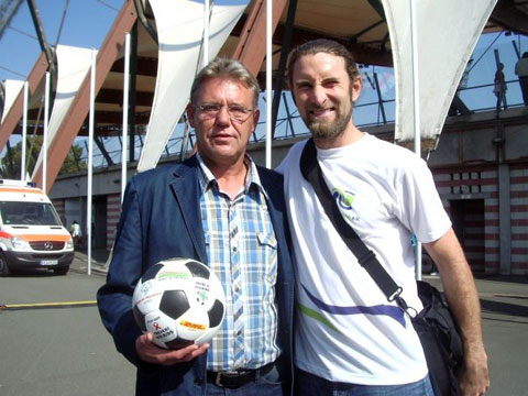 The Ball in Erfurt with famous DDR footballer Rüdiger Schnuphase