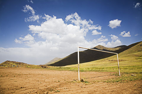 An open goal in Morocco, photographed by Al Mole