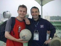 Phil with Pat Nevin in 2002